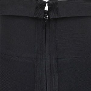 House of CB Dresses - Black Bandage Strapless Fluted Dress size XS